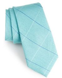 Calibrate - Candler Grid Linen & Silk Tie - Lyst