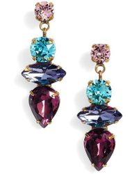 Sorrelli - Narcissus Crystal Drop Earrings - Lyst
