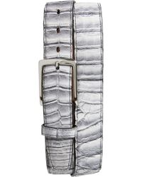 Torino Leather Company - Crocodile Leather Belt - Lyst