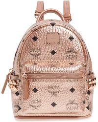MCM - X-mini Stark Side Stud Coated Canvas Backpack - - Lyst