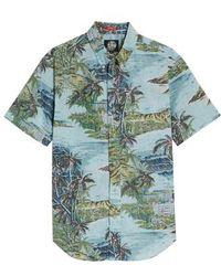 Reyn Spooner - Diamond Head Classic Fit Print Sport Shirt - Lyst