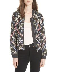 Needle & Thread - Crosshatch Embroidered Bomber Jacket - Lyst