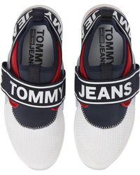 b1975efafbfbb2 Lyst - Tommy Hilfiger Lilly Logo Strap Sneaker in Blue