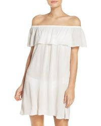 Becca - Southern Belle Off The Shoulder Cover-up Dress - Lyst