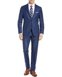 Hickey Freeman - Classic Fit Windowpane Wool & Cashmere Suit - Lyst