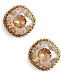 Sorrelli - Cushion Cut Solitaire Stud Earrings - Lyst