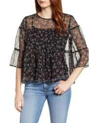 Vince Camuto - Ditsy Manor Tiered Ruffle Blouse - Lyst