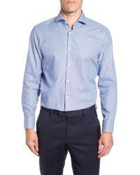BOSS - Sharp Fit Mark Micro Grid Dress Shirt - Lyst