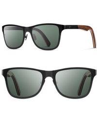 Shwood | 'canby' 54mm Polarized Titanium & Wood Sunglasses | Lyst