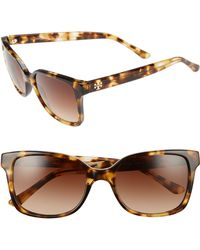 555ef380902 Lyst - Tory Burch Sunglasses Ty 6047 316013 Gold in Brown