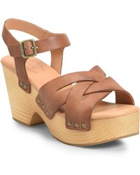 7a04707f4104 Lyst - Kork-Ease  keirn  Platform Wedge Sandal in Black
