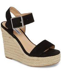Santorini Leather Espadrille Wedge Sandals auaIi