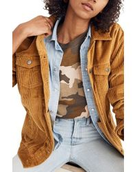 Madewell - The Oversized Corduroy Jean Jacket - Lyst