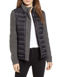 Marc New York - Mark New York Packable Knit Trim Puffer Jacket, Black - Lyst