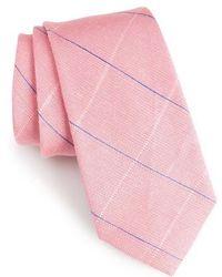 Calibrate - Candler Grid Linen & Silk Tie - Lyst