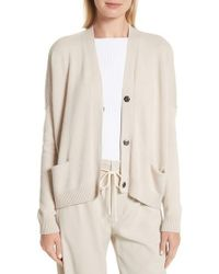 Vince - Snap Front Cashmere Cardigan - Lyst