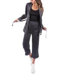 Ragdoll - Pinstripe Silk Pajama Top - Lyst