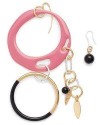 Diane von Furstenberg - Asymmetrical Charm Earrings - Lyst
