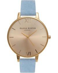 Olivia Burton - Sunray Leather Strap Watch - Lyst