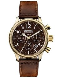 INGERSOLL WATCHES - Ingersoll Apsley Chronograph Leather Strap Watch - Lyst