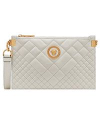 Versace - Tribute Icon Quilted Leather Pouch - - Lyst