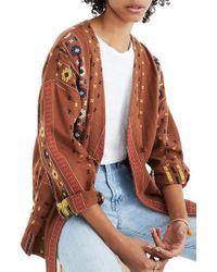Madewell - Kimono Shirttail Jacket - Lyst