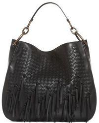 Bottega Veneta - Large Loop Fringe Leather Hobo - Lyst
