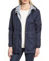 Bernardo - Solid To Stripe Reversible Jacket - Lyst