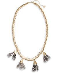 Serefina - Dancing Feathers Statement Necklace - Lyst