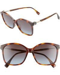 338233c1bcf7 Jimmy Choo Special Fit Patty Sunglasses - Nude Black/brown Gold in ...