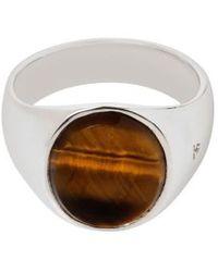 Tom Wood - Oval Tiger's Eye Signet Ring - Lyst
