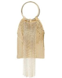 Whiting & Davis - Cascade Crystal Fringe Mesh Bracelet Bag - Metallic - Lyst