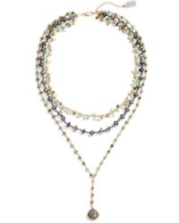 Ela Rae - Multistrand Y-necklace - Lyst