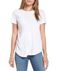 Caslon - Caslon Gathered Front Crew Tee - Lyst