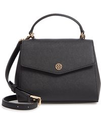 2705ec64bf53 Tory Burch - Robinson Small Top-handle Satchel - Lyst