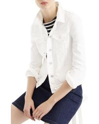 J.Crew | J.crew White Denim Jacket | Lyst