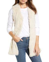 Love Token - Genuine Rabbit Fur & Knit Vest - Lyst