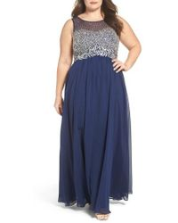 Decode 1.8 - Beaded Illusion Bodice A-line Gown - Lyst