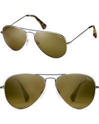 e621d44920326 MVMT - Runway 60mm Polarized Aviator Sunglasses - Brushed Silver - Lyst