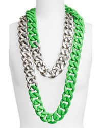 Adia Kibur - Colorblock Link Necklace - Lyst