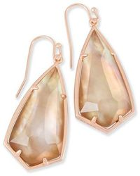 Kendra Scott | Carla Semiprecious Stone Drop Earrings | Lyst