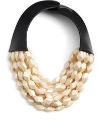 Fairchild Baldwin - Oval Bella Beaded Collar Necklace - Lyst
