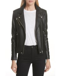 IRO - Leather Moto Jacket - Lyst