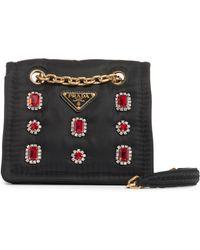 7c91da77a1b46d Prada - Jewel Embellished Nylon Shoulder Bag - - Lyst