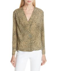Rag & Bone - Shields Leopard Print Silk Top - Lyst