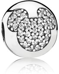 PANDORA - Disney Mickey Mouse Pave Clip Charm - Lyst