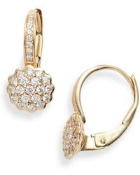 Dana Rebecca - Dana Rebecca Lauren Joy Diamond Disc Drop Earrings - Lyst