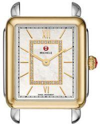 Michele - Deco Ii Mid Diamond Watch Head - Lyst
