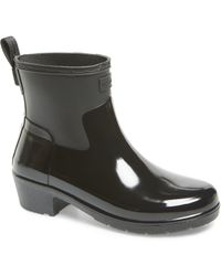 f789e547c Lyst - HUNTER Original Refined Mixed Finish Waterproof Rain Boot in ...