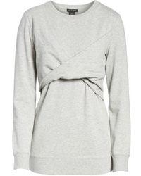Trouvé - Twist Front Sweatshirt - Lyst